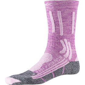 X-Socks Trek X Merino Socken Damen magnolia purple melange/dolomite grey